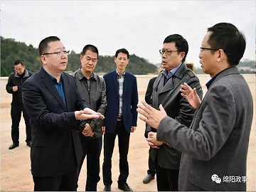 Yuan Fang Supervises the Construction of the Route-changing Project of the Provincial Highway 205